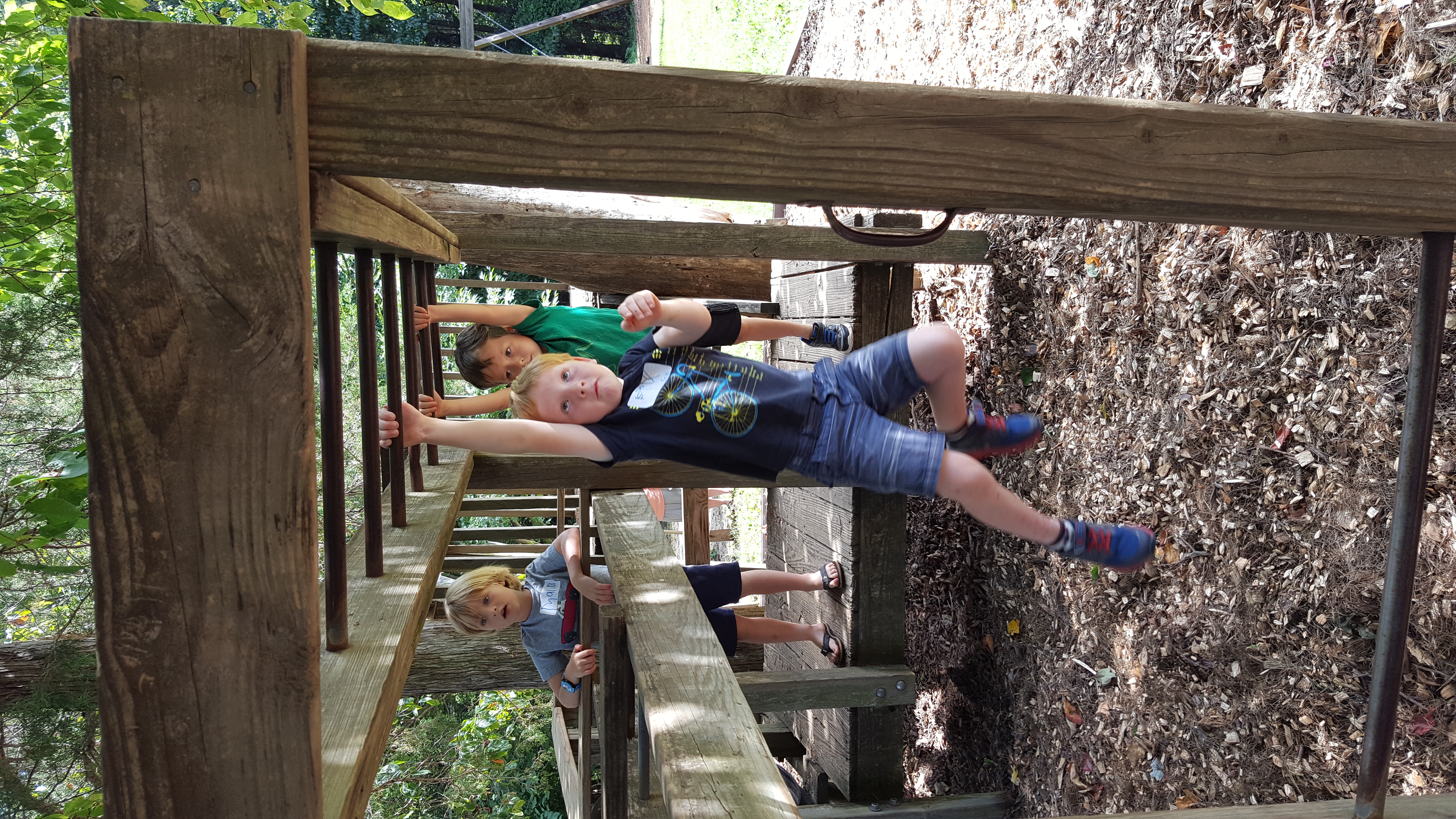 Fun on the Monkey Bars during the Early Primary Play Day, 8/23/16